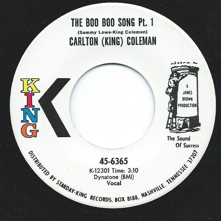 CARLTON (KING) COLEMAN / THE BOO BOO SONG PT. 1 (7