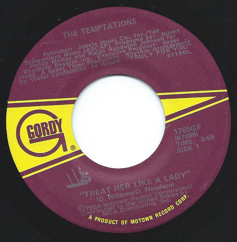 THE TEMPTATIONS / TREAT HER LIKE A LADY / ISN'T THE NIGHT FANTASTIC (7