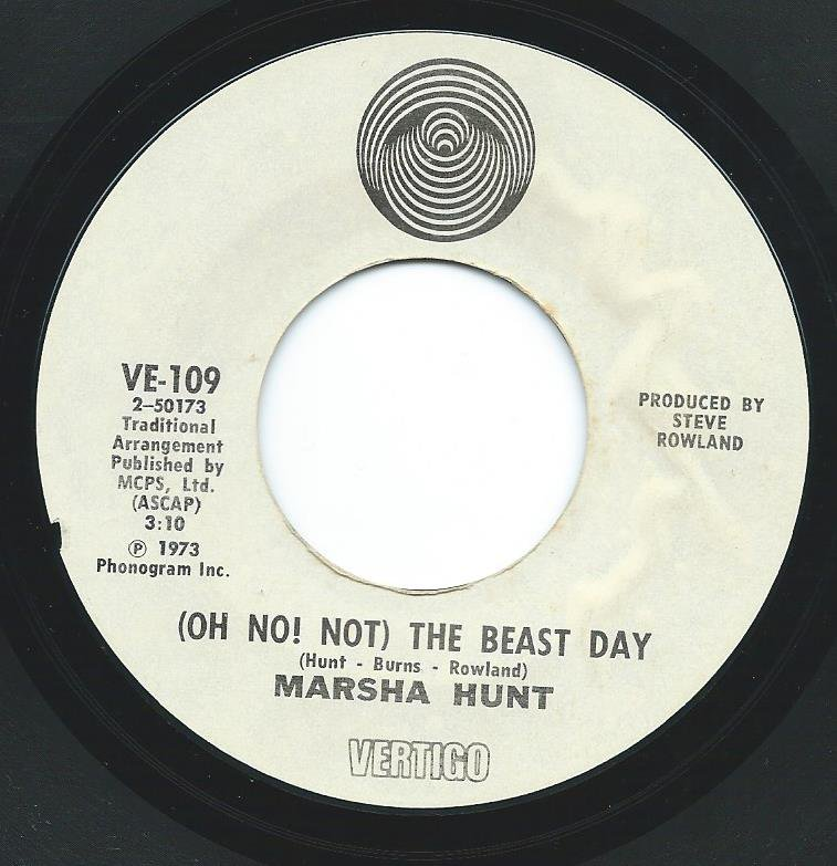 MARSHA HUNT / (OH, NO! NOT) THE BEAST DAY / SOMEBODY TO LOVE (7