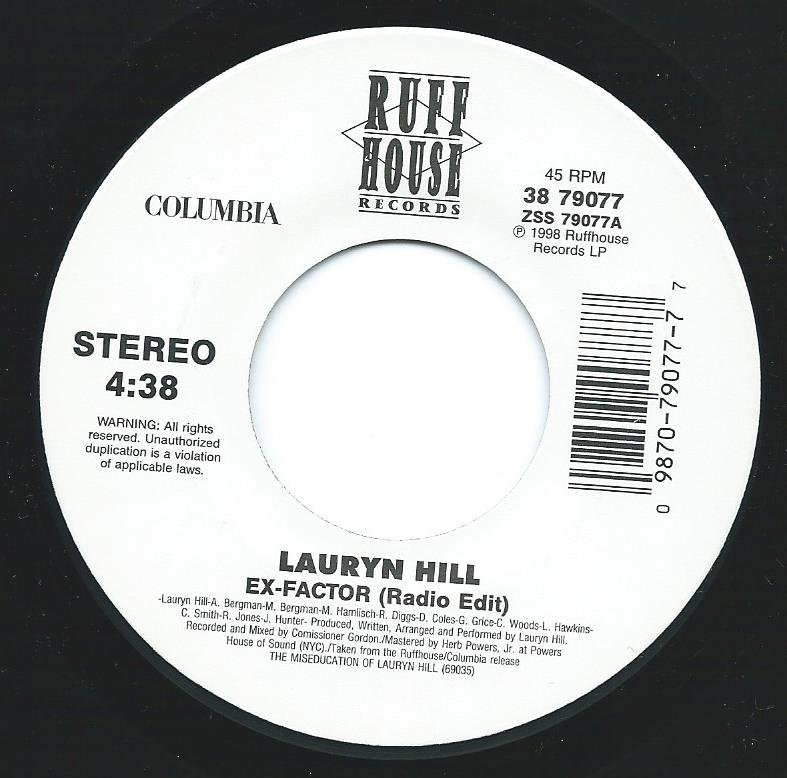 LAURYN HILL / EX-FACTOR / WHEN IT HURTS SO BAD (7