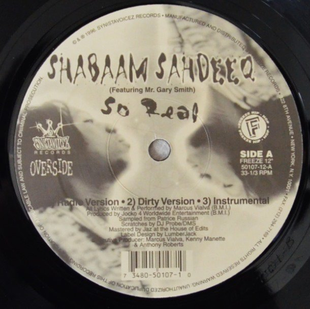 SHABAAM SAHDEEQ / SO REAL / IT COULD HAPPEN (12