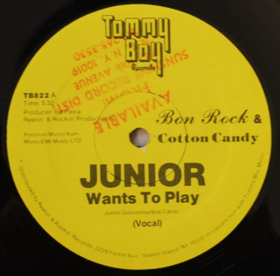 BON ROCK & COTTON CANDY / JUNIOR WANTS TO PLAY (12