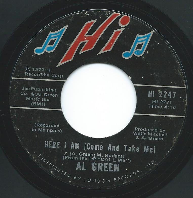 AL GREEN / HERE I AM / I'M GLAD YOUR MINE (7