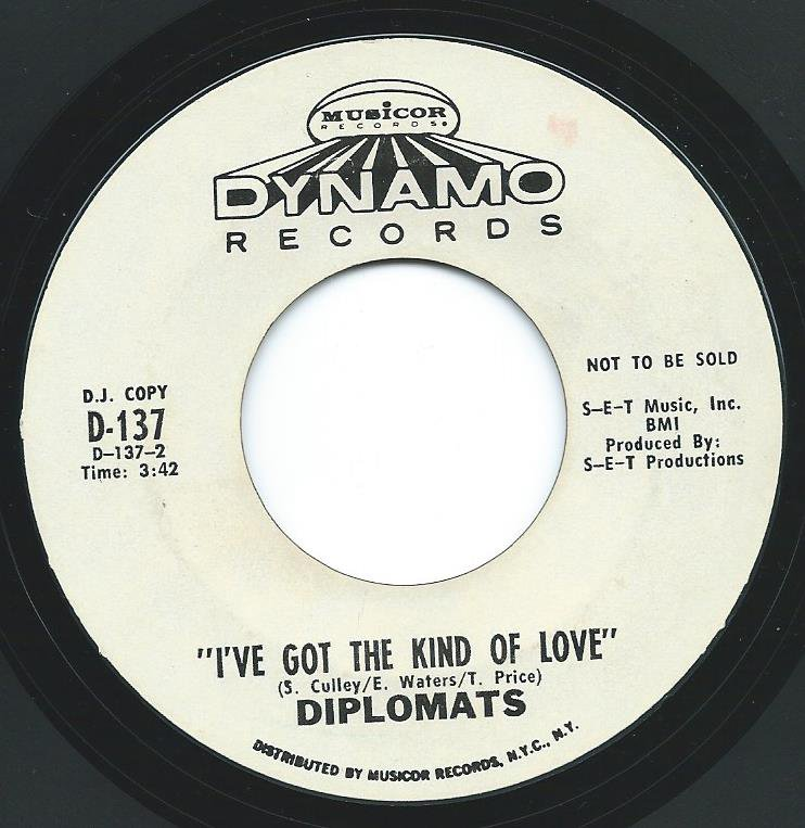 THE DIPLOMATS / I'VE GOT THE KIND OF LOVE / IN THE GHETTO (7