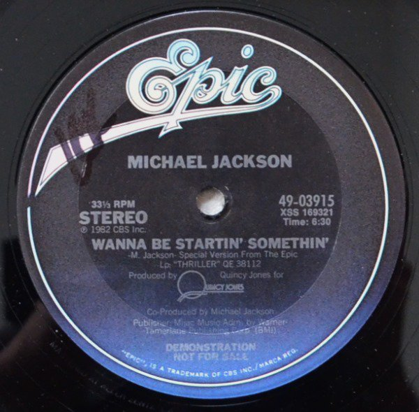 MICHAEL JACKSON / WANNA BE STARTIN' SOMETHIN' (12