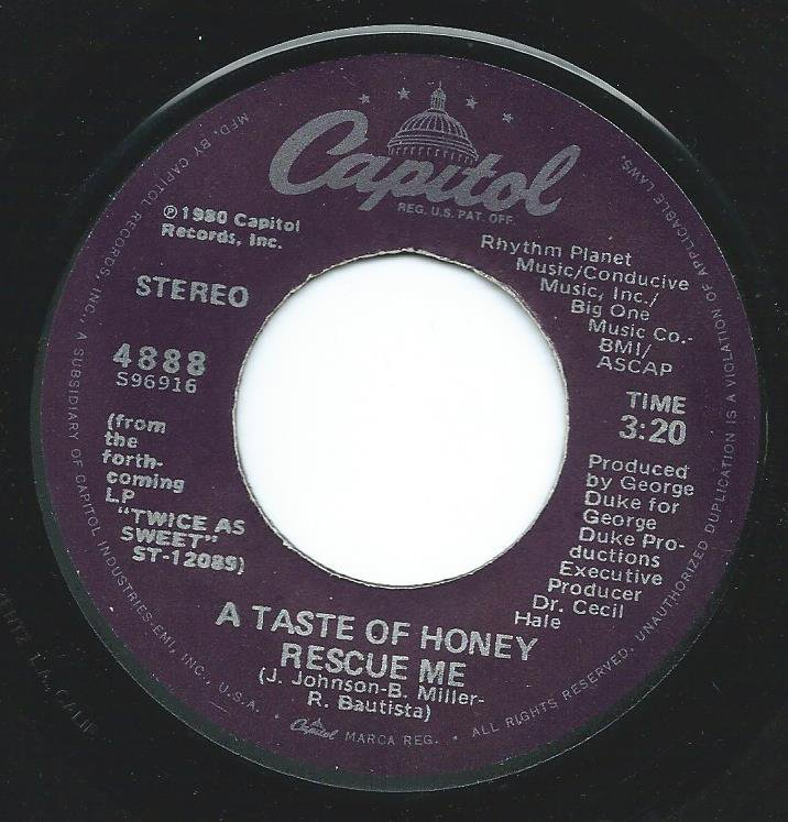 A TASTE OF HONEY / RESCUE ME / SAY THAT YOU'LL STAY (7