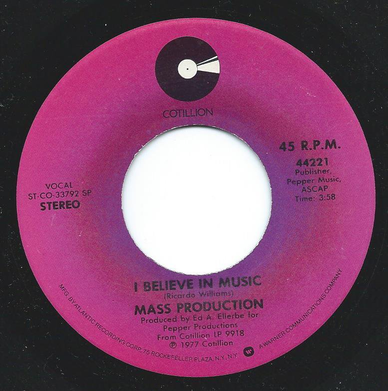 MASS PRODUCTION / I BELIEVE IN MUSIC / PEOPLE GET UP (7