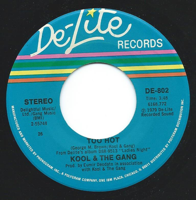 KOOL & THE GANG / TOO HOT / TONIGHT'S THE NIGHT (7