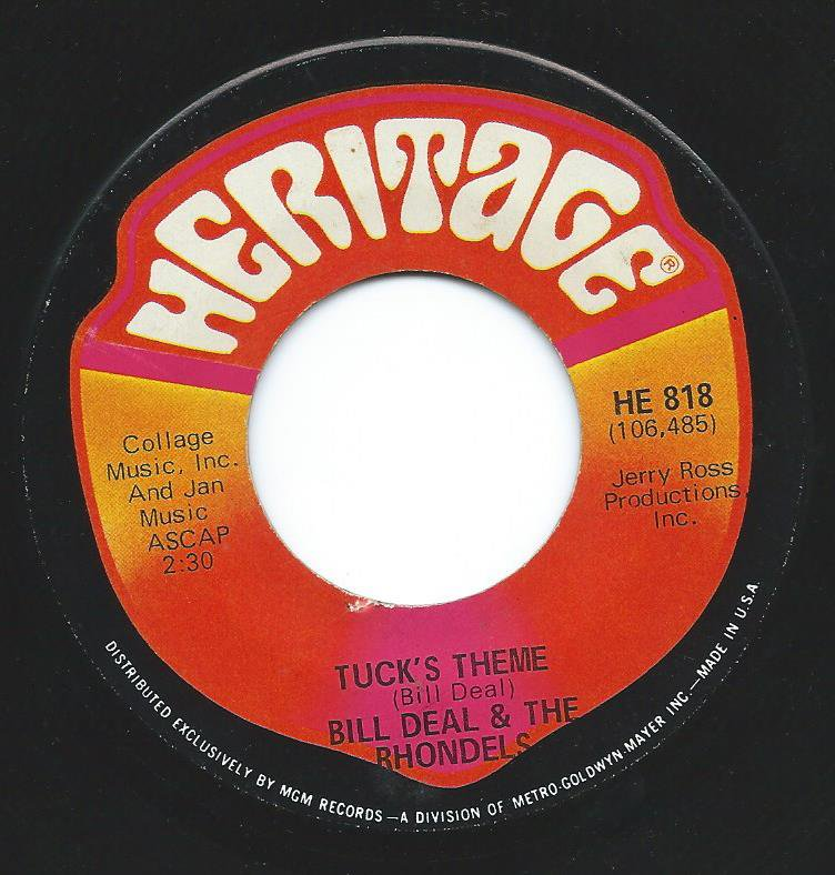 BILL DEAL & THE RHONDELS / SWINGIN' TIGHT / TUCK'S THEME (7
