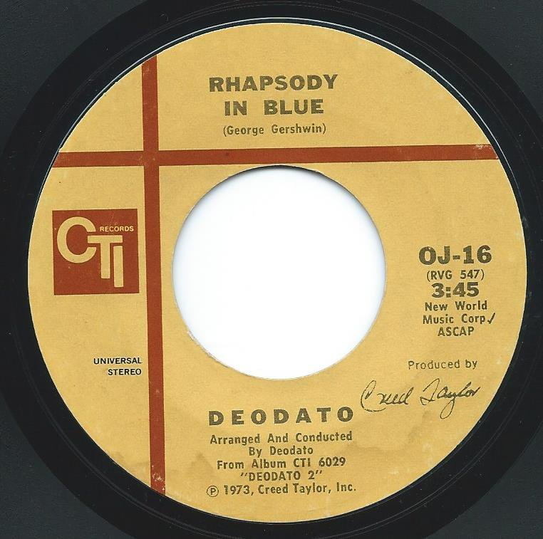DEODATO / RHAPSODY IN BLUE / SUPER STRUT (7