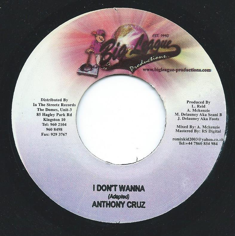 ANTHONY CRUZ I DON'T WANNA (7
