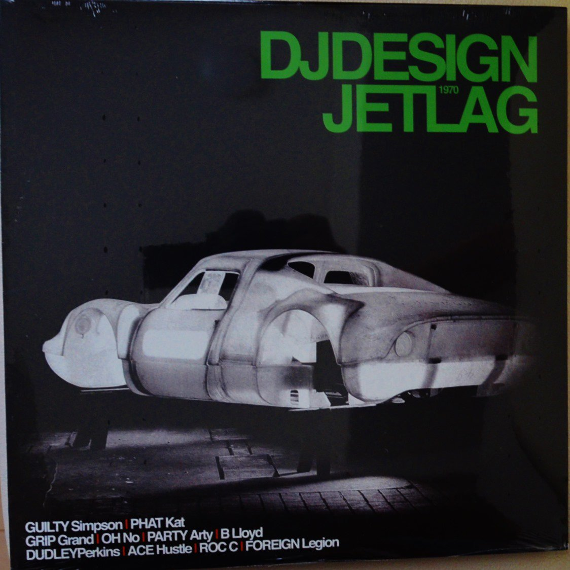 DJ DESIGN / JETLAG (FEAT.PHAT KAT,OH NO,ROC C,GUILTY SIMPSON,PARTY ARTY...) (2LP)