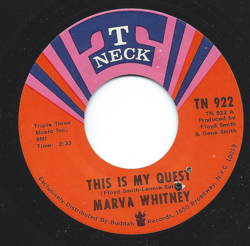 MARVA WHITNEY / THIS IS MY QUEST / GIVING UP ON LOVE (7
