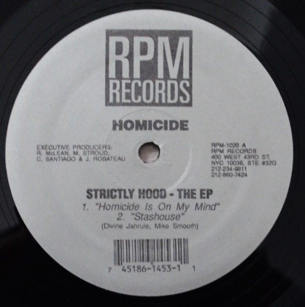 HOMICIDE / STRICTLY HOOD - THE EP (12
