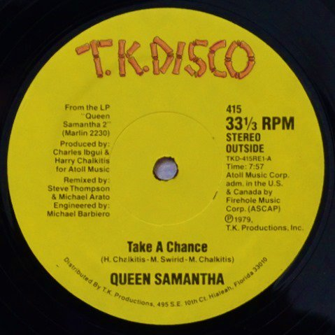 QUEEN SAMANTHA / TAKE A CHANCE / SWEET SAN FRANCISCO (12