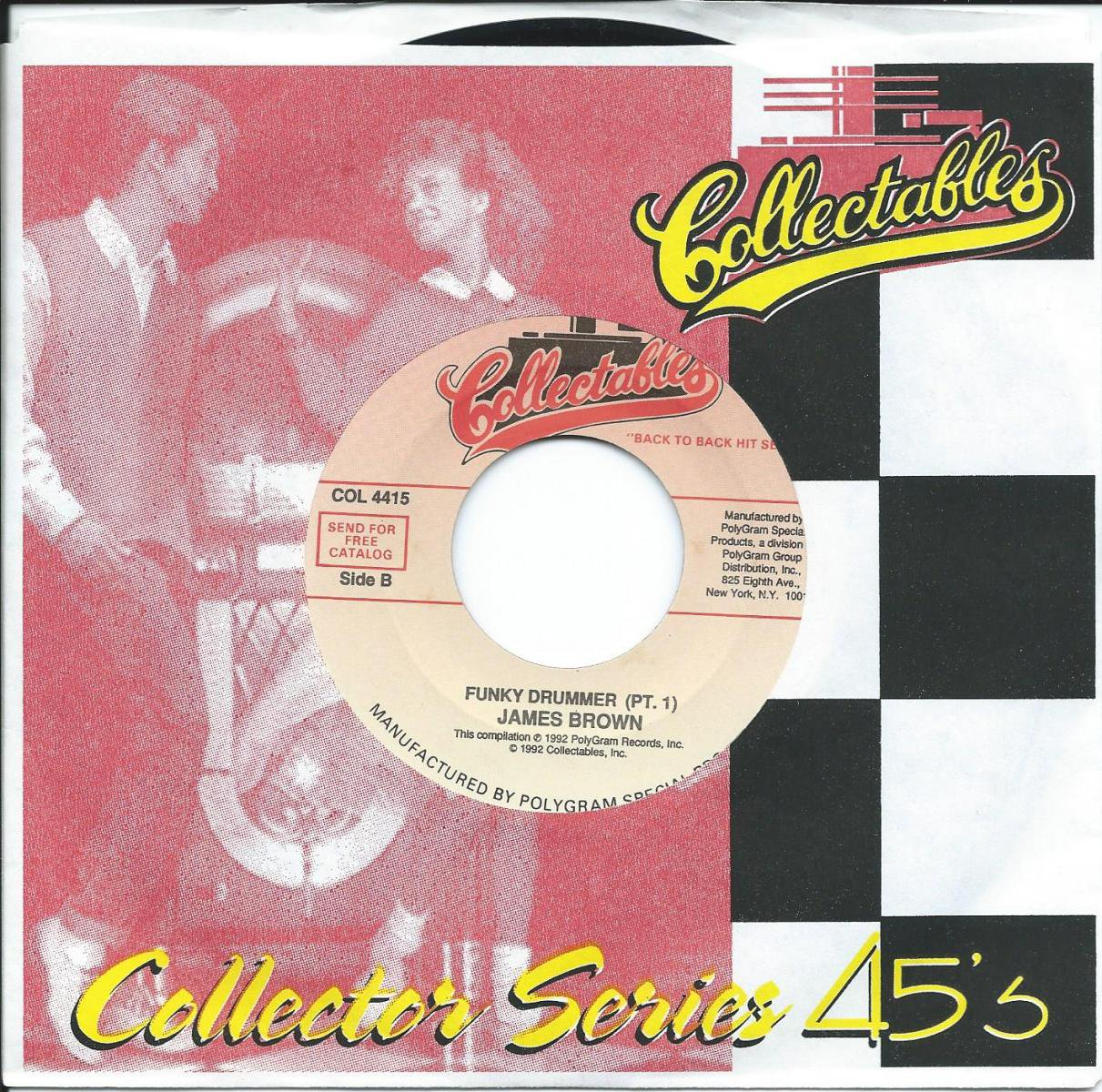 JAMES BROWN / FUNKY DRUMMER (PT. 1) / AIN'T IT FUNKY NOW (PT. 1) (7
