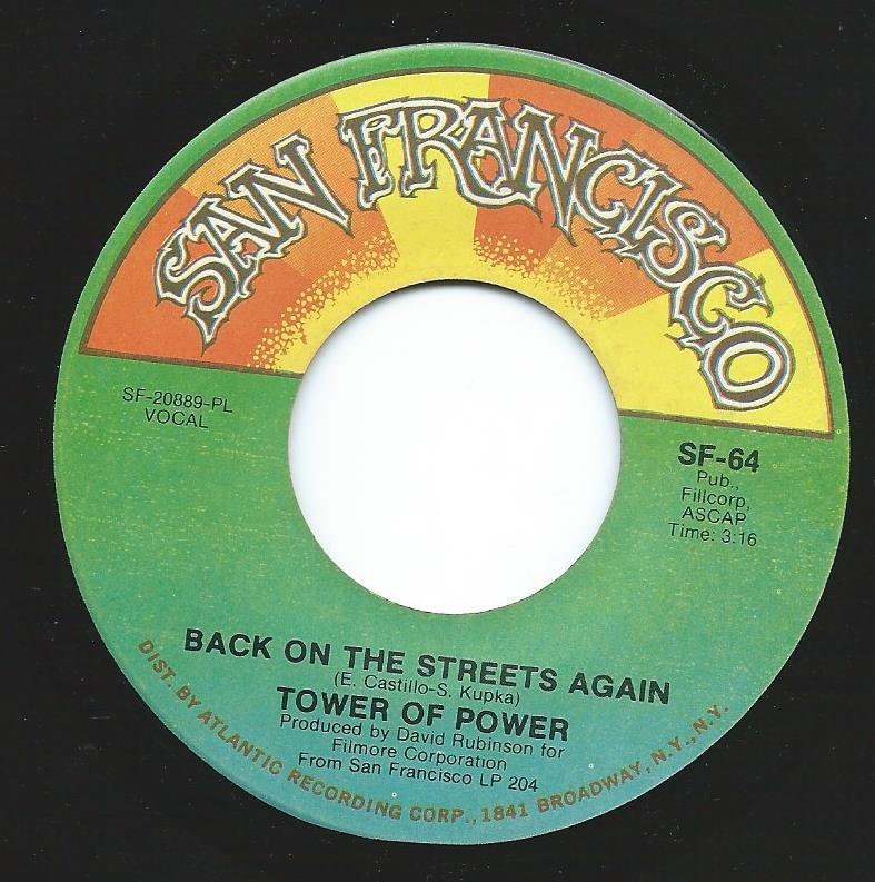 TOWER OF POWER / BACK ON THE STREETS AGAIN / SPARKLING IN THE SAND (7