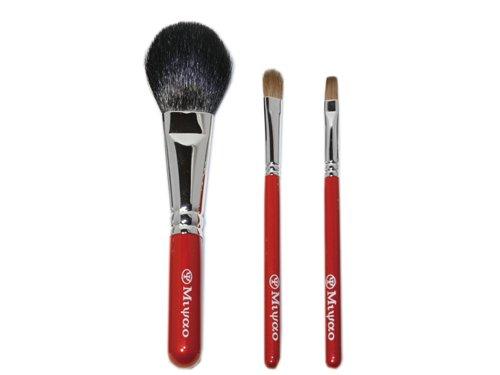 熊野化粧筆メイクブラシ3点セット(チーク、アイシャドウ、リップブラシ) BR-5【送料無料】【ブライダル…