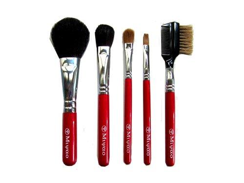 熊野化粧筆メイクブラシ5点セット(チーク、アイカラー、アイシャドウ他) BR-7【送料無料】【ブライダル…