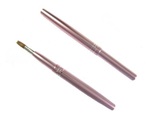 携帯リップブラシ≪ピンク≫【セーブル】 MU-4/熊野化粧筆