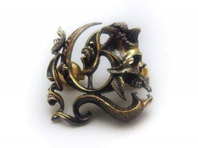 the united jewelry/animal man pins/brass