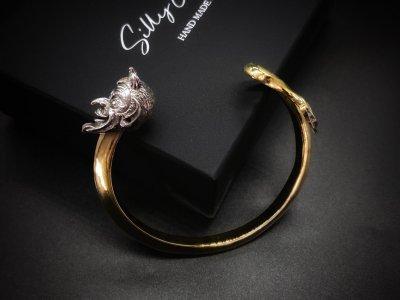 silly essence/devil tail bangle/brass/silver