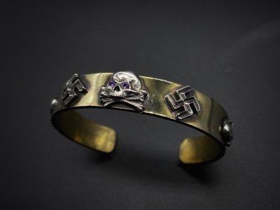 silly essence/ toten kopf bangle/brass/silver