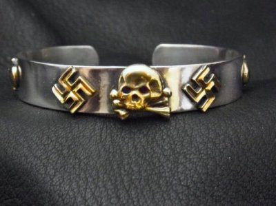 silly essence/toten kopf bangle/silver/brass
