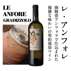 【ビオディナミで造る個性派白ワイン!】 2014 レ・アンフォレ 《契約栽培ブドウ・特注テラコッタ壷醸造》