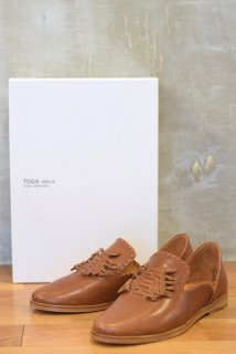 TOGA VIRILIS(17SS)/トーガビリリース/Leather spock shoes<img class='new_mark_img2' src='//img.shop-pro.jp/img/new/icons15.gif' style='border:none;display:inline;margin:0px;padding:0px;width:auto;' />