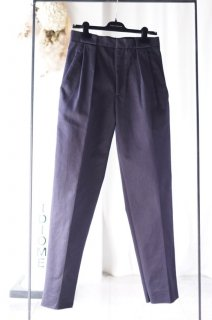 CÉDRIC CHARLIER(17AW)/セドリックシャルリエ/stretched twill trousers d.blue