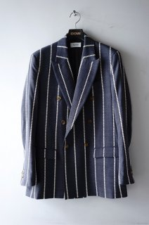 TAAKK(18SS)/ターク/EMBROIDERY STRIPE JACKET gray<img class='new_mark_img2' src='//img.shop-pro.jp/img/new/icons15.gif' style='border:none;display:inline;margin:0px;padding:0px;width:auto;' />
