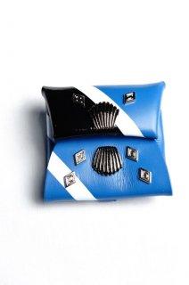 TOGA VIRILIS(18SS)/トーガビリリース/Metal leather wallet 5 blue