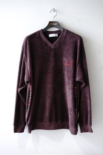 TOGA VIRILIS(19SS)/トーガビリリース/Pile pullover LS d.red<img class='new_mark_img2' src='https://img.shop-pro.jp/img/new/icons15.gif' style='border:none;display:inline;margin:0px;padding:0px;width:auto;' />