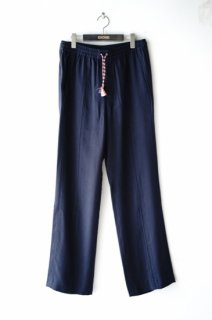 QASIMI(19SS)/カシミ/DRAWCORD TROUSERS viscose navy