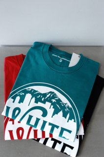 WhiteMountaineering(19SS)/ホワイトマウンテニアリング/PRINTED T-SHIRT MOUNTAIN&BUILDING