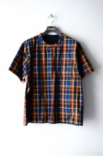 WhiteMountaineering(19SS)/ホワイトマウンテニアリング/MADRAS CHECK PULLOVER HALF SLEEVES SHIRT<img class='new_mark_img2' src='https://img.shop-pro.jp/img/new/icons15.gif' style='border:none;display:inline;margin:0px;padding:0px;width:auto;' />