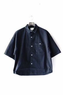 WHEIR BOBSON(19SS)/ウェアボブソン/OVERSIZED SHORT SLEEVE SHIRT bk<img class='new_mark_img2' src='https://img.shop-pro.jp/img/new/icons15.gif' style='border:none;display:inline;margin:0px;padding:0px;width:auto;' />