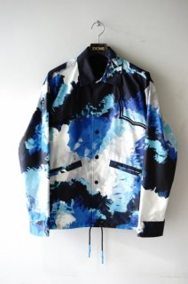 TOGA VIRILIS(20SS)/トーガビリリース/Polyester tie dye jacket navy<img class='new_mark_img2' src='https://img.shop-pro.jp/img/new/icons15.gif' style='border:none;display:inline;margin:0px;padding:0px;width:auto;' />