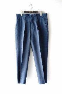 WELLDER(20SS)/ウェルダー/Single Forward Pleated Tapered Trousers b.grey