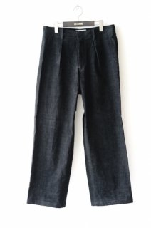 WELLDER(20SS)/ウェルダー/Single Forward Pleated Wide Trousers bk