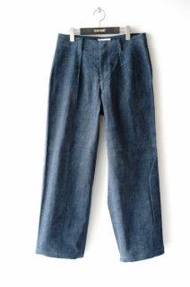 WELLDER(20SS)/ウェルダー/Single Forward Pleated Wide Trousers b.grey