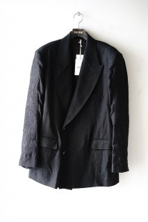 doublet(20SS)/ダブレット/CHAOS EMBROIDERY LINEN TAILORED JACKET bk