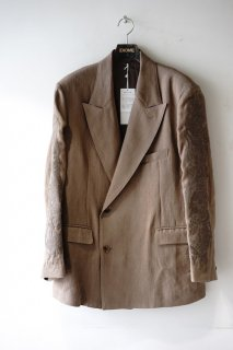 doublet(20SS)/ダブレット/CHAOS EMBROIDERY LINEN TAILORED JACKET brown