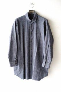 Dulcamara(20SS)/ドゥルカマラ/ヨークスリーブシャツ c.gray×navy