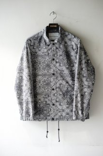 WhiteMountaineering(20SS)/ホワイトマウンテニアリング/BANDANA PRINTED COACH JACKET gray<img class='new_mark_img2' src='https://img.shop-pro.jp/img/new/icons15.gif' style='border:none;display:inline;margin:0px;padding:0px;width:auto;' />