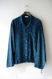 WELLDER(20SS)/ウェルダー/Drawstring Shirt green<img class='new_mark_img2' src='https://img.shop-pro.jp/img/new/icons15.gif' style='border:none;display:inline;margin:0px;padding:0px;width:auto;' />