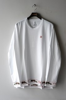 doublet(20AW)/ダブレット/RA-MEN EMBROIDERY LONG SLEEVE T-SHIRT wh