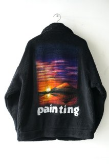 HAND-PAINTED FUR JACKET -painting-<img class='new_mark_img2' src='https://img.shop-pro.jp/img/new/icons14.gif' style='border:none;display:inline;margin:0px;padding:0px;width:auto;' />