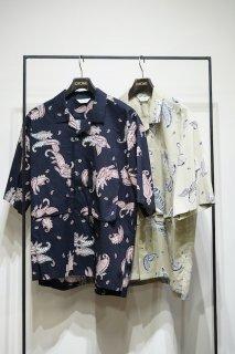 Utility Open Collar Half Sleeve Shirt